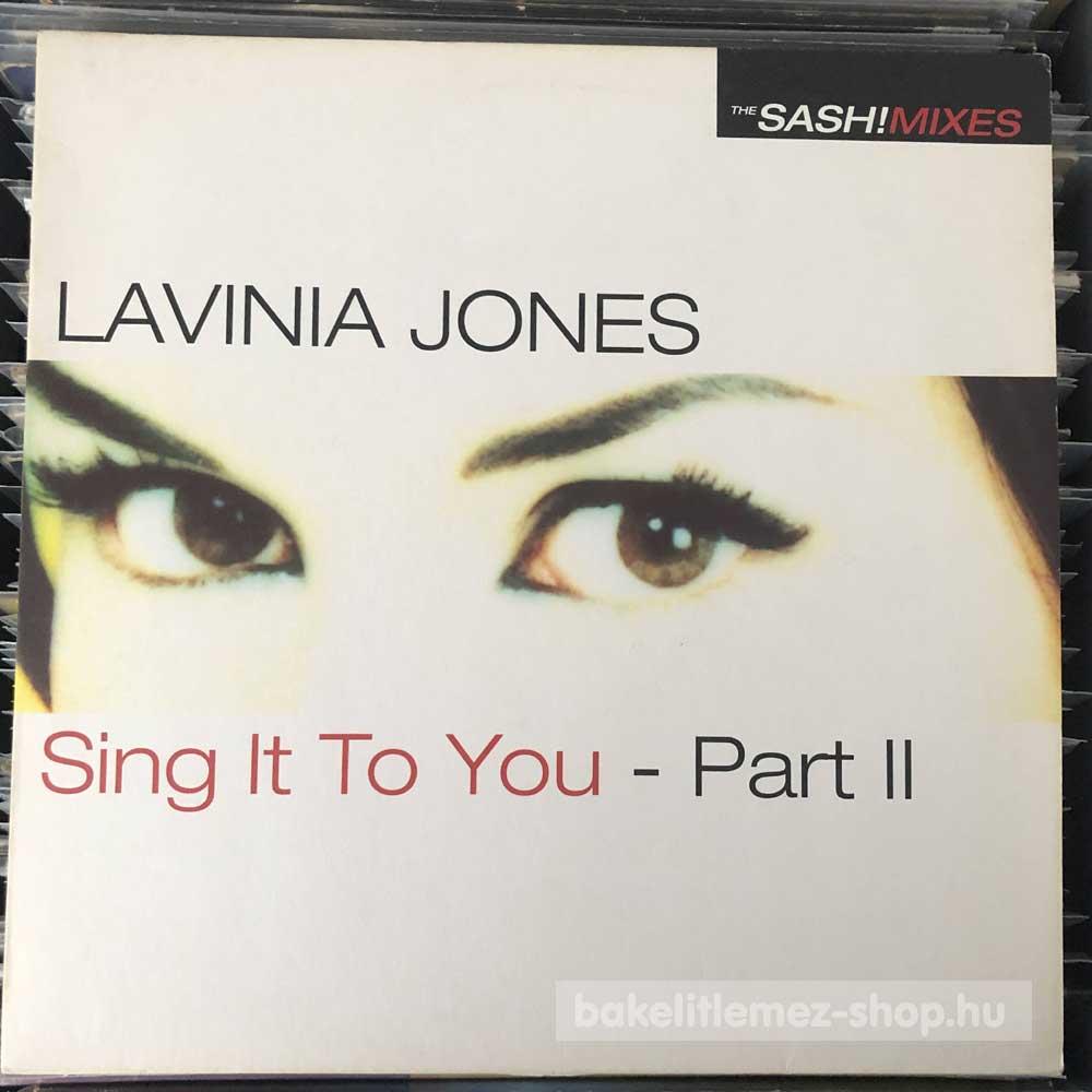 Lavinia Jones - Sing It To You - Part II (The Sash! Mixes)